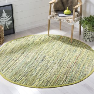 Declan Hand-Knotted Light Green Area Rug by Ebern Designs