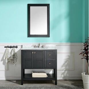Billiot 36 Single Bathroom Vanity Set with Mirror By Three Posts