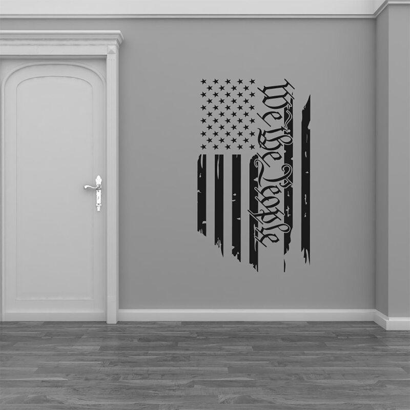 People American Flag Vinyl Wall Decal