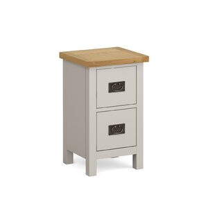 Buhl 2 Drawer Bedside Table By Brambly Cottage