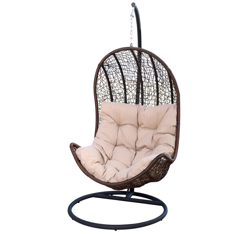 Ghazali Eggshaped Swing Chair with Stand & Reviews | AllModern