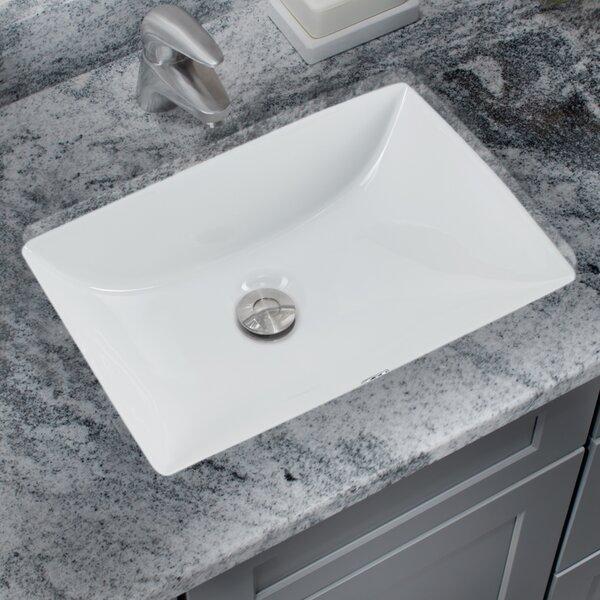Soleil Glazed Vitreous China Rectangular Undermount Bathroom Sink with Overflow & Reviews | Wayfair