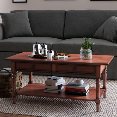 Boris Coffee Table Color: Red by Andover Mills
