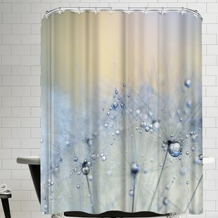 Ice Blue Single Shower Curtain