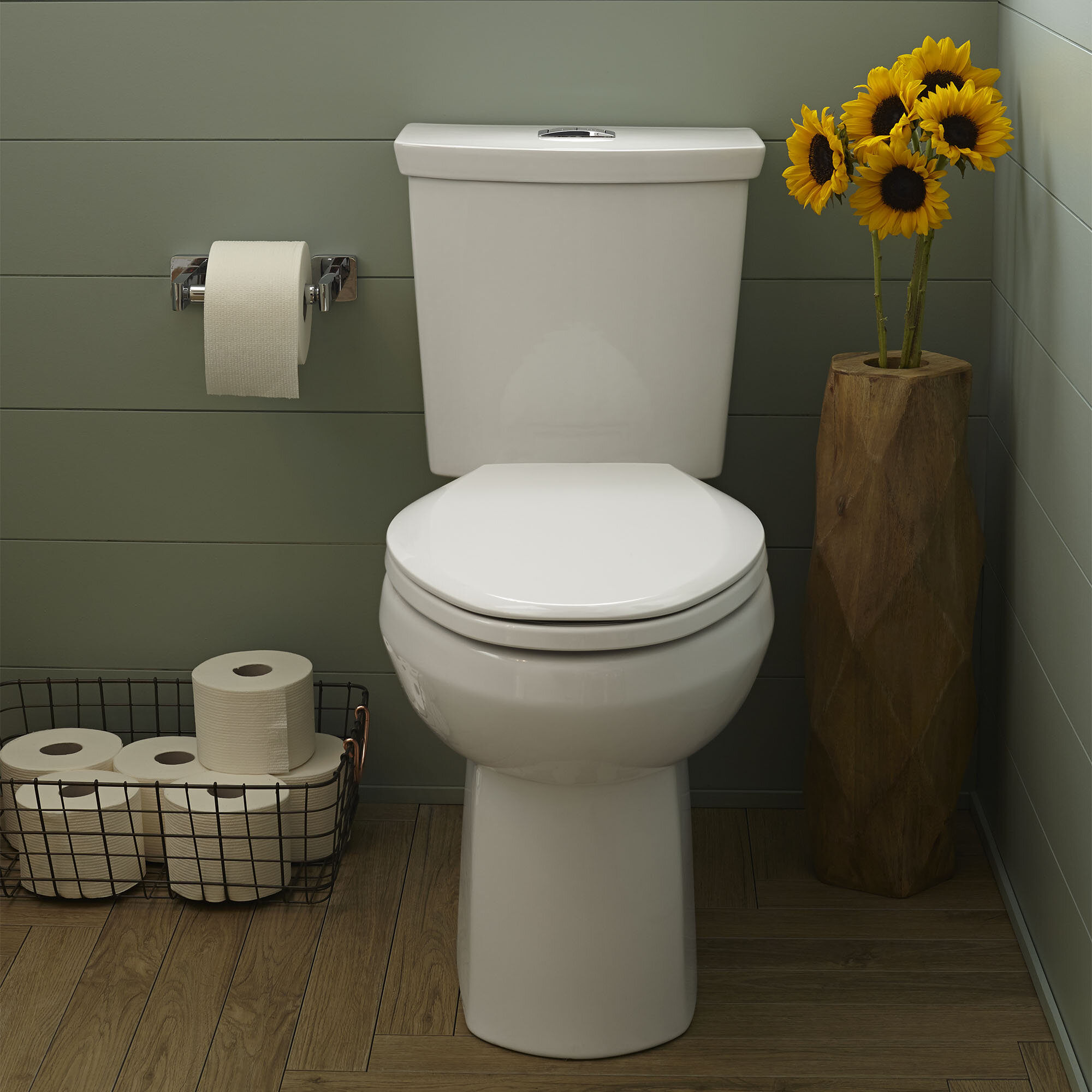 American Standard H2option Dual Flush Elongated Two Piece Toilet Seat Not Included Reviews Wayfair