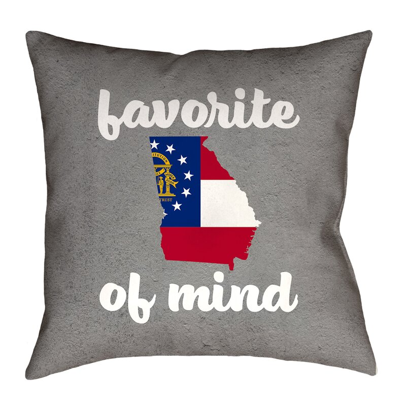 Artverse Katelyn Smith 16 X 16 Spun Polyester Double Sided Print With Concealed Zipper Insert Wisconsin Pillow