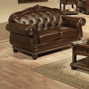 Astoria Grand Wentz Leather Loveseat