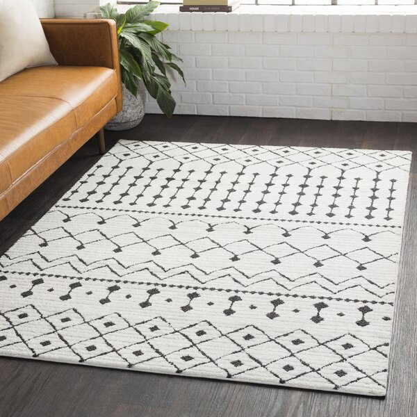 Charcoal And White Rugs Wayfair