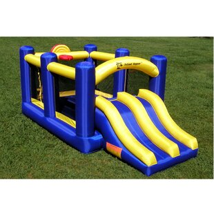 Island Hopper Racing Slide and Slam Bounce House