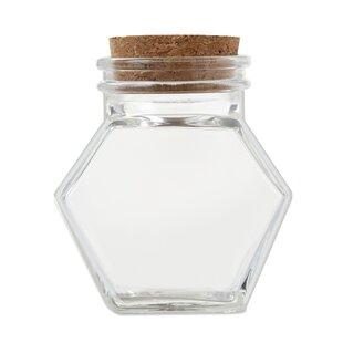 Glass Hexagon Cookie Jar (Set of 12)