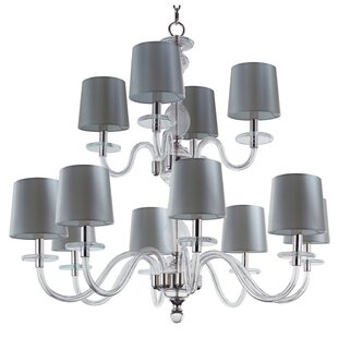 House of Hampton Lennon 12-Light Shaded Chandelier