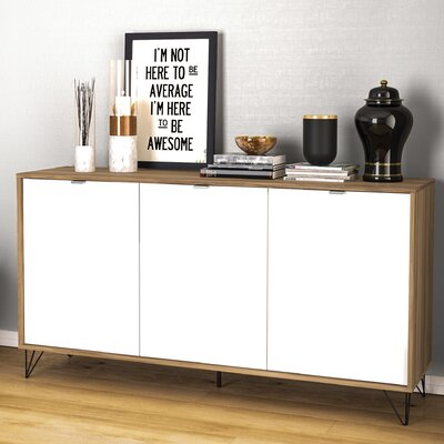 Union Rustic Ipswich Sideboard  Color: Light Brown/White