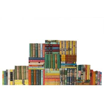 Booth Williams 200 Piece Curated Vintage British Library Authentic Decorative Books Set Perigold