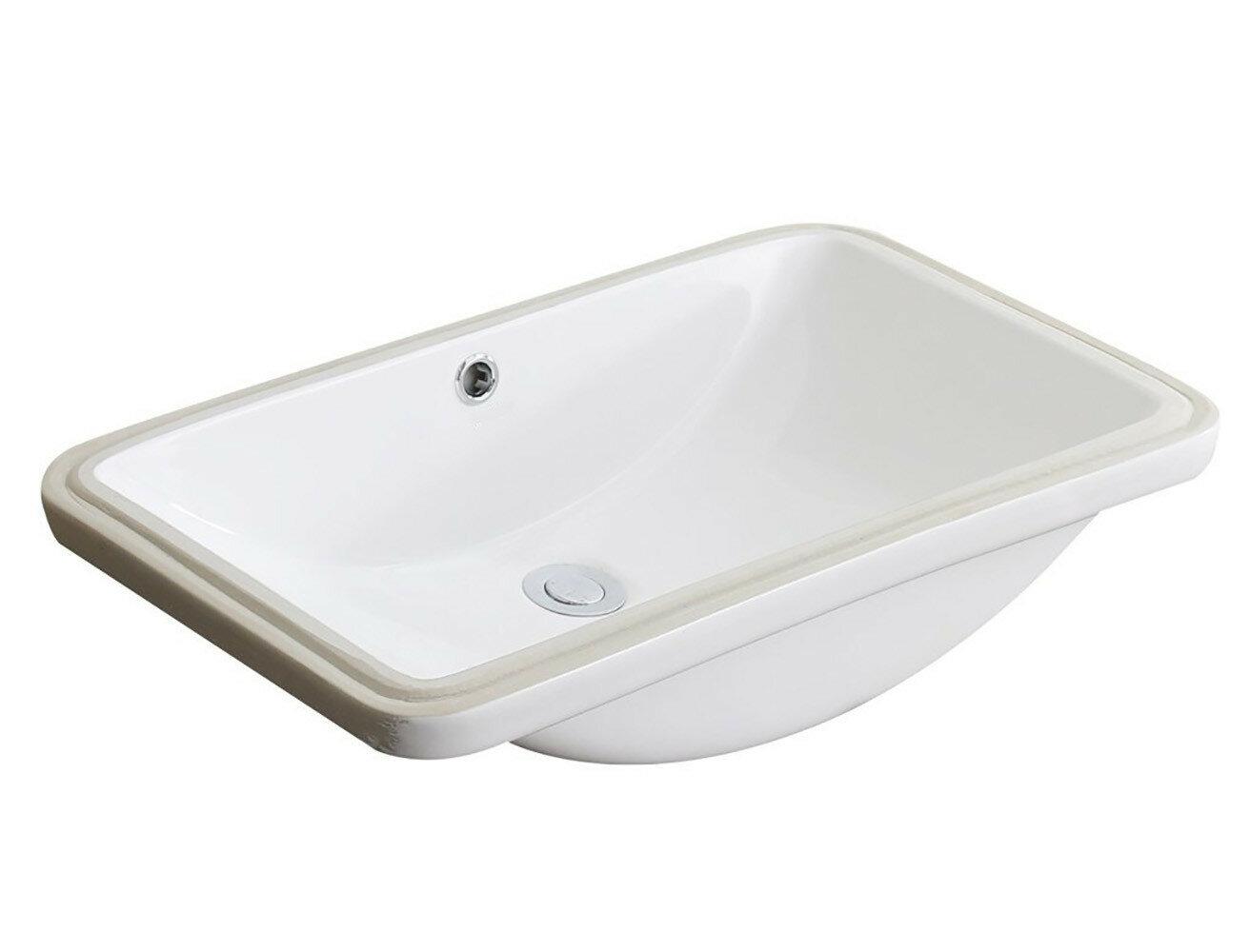 Anzzi Lanmia Series Vitreous China Rectangular Undermount Bathroom Sink With Overflow Wayfair