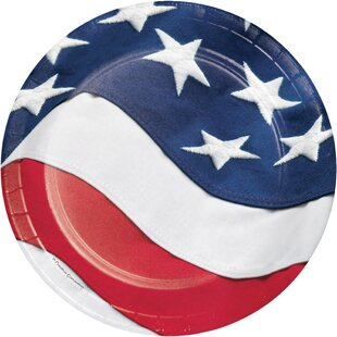 Freedoms Flag Paper Appetizer Plate (Set of 24)
