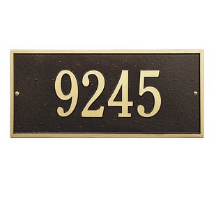 Hartford 1-Line Wall Address Plaque by Whitehall Products