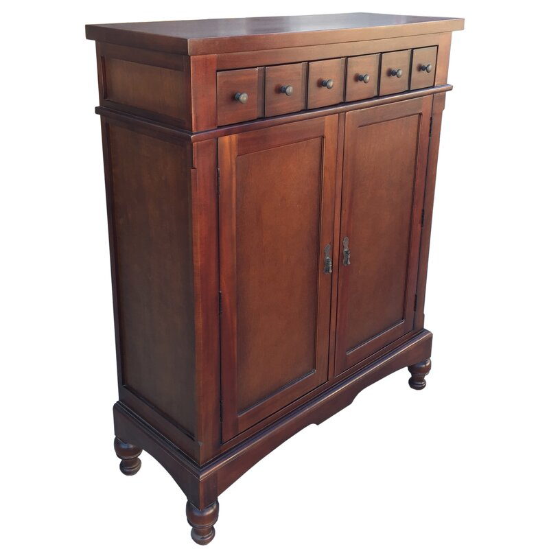 Attirant Colonial Apothecary Storage Accent Cabinet