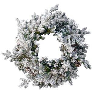 Snowy 61cm Pine Wreath By The Seasonal Aisle