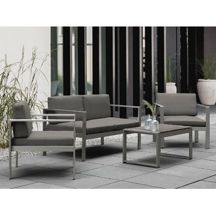 Ingerson 4 Piece Sofa Seating Group with Cushions (Set of 4)