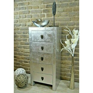 Sanuary 5 Drawer Bedside Table By Borough Wharf