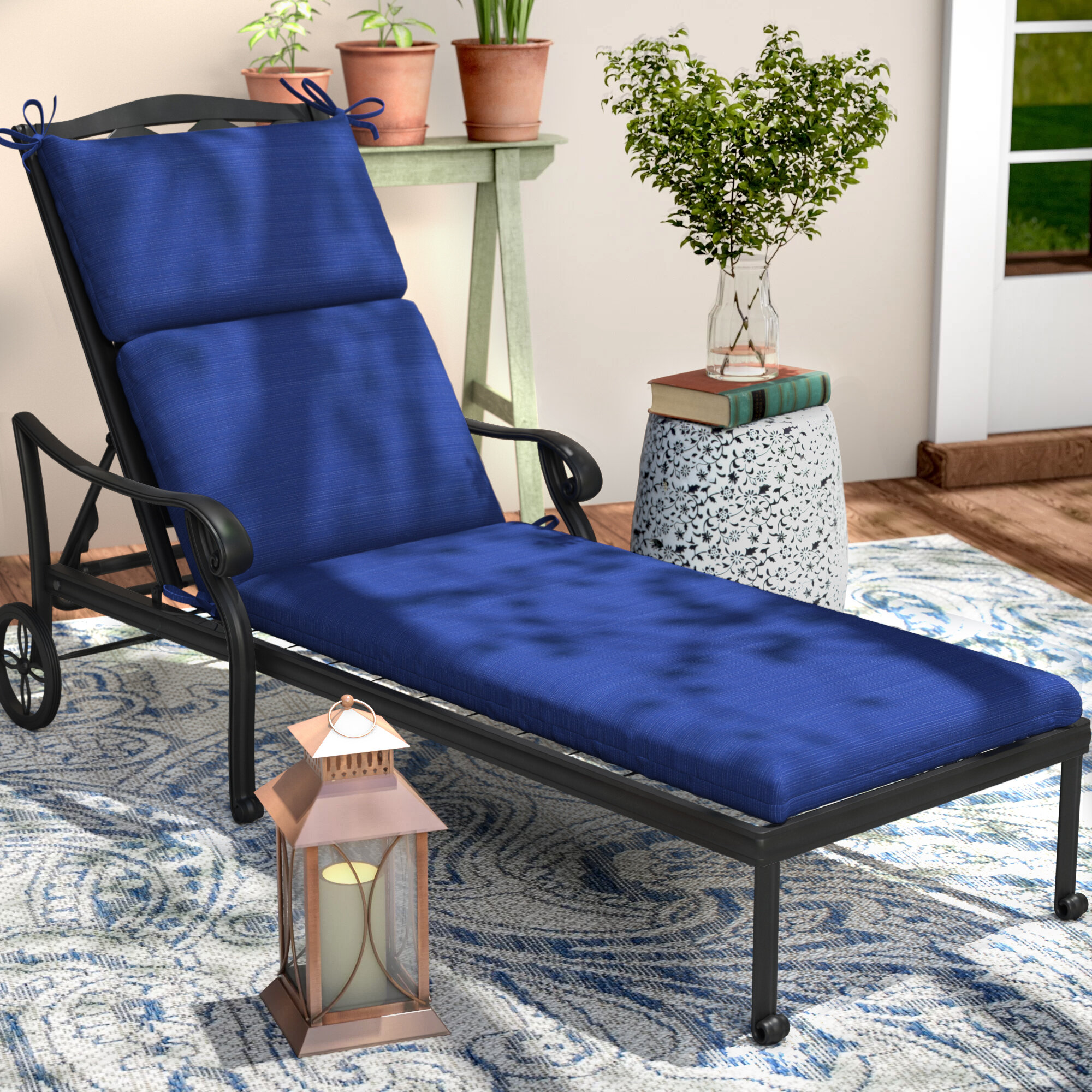 Darby Home Co Claiborne Indoor Outdoor Chaise Lounge Cushion Reviews Wayfair
