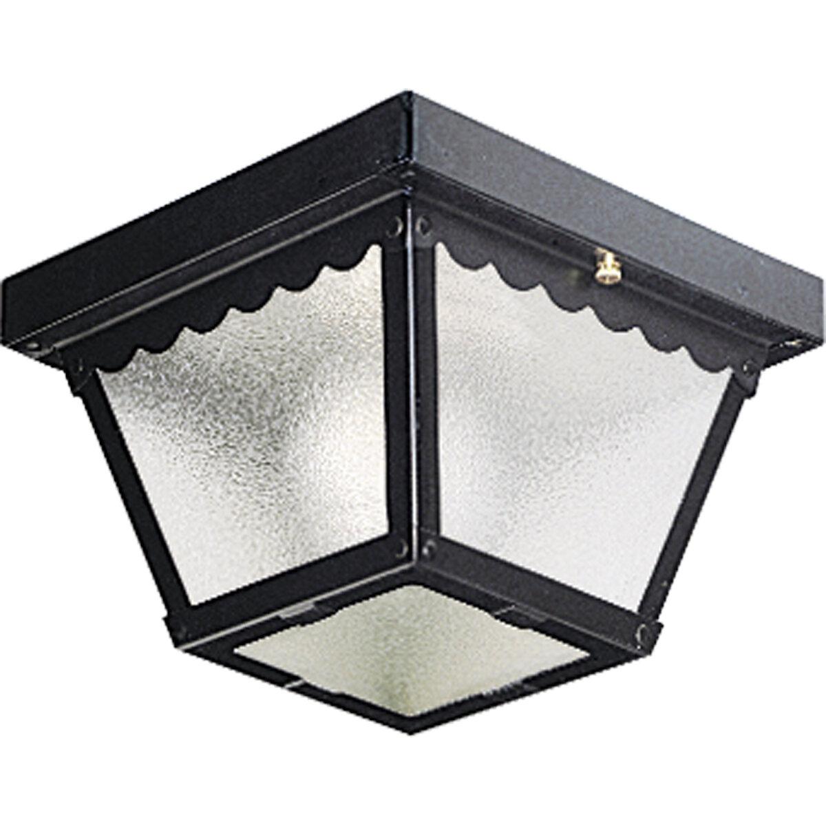 Ceiling Flush Mount Steel Commercial Outdoor Lighting You Ll Love In 2021 Wayfair