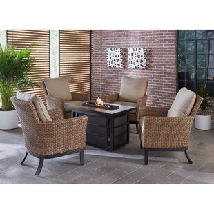 Ritter Outdoor 5 Piece Multiple Chairs Seating Group with Cushions