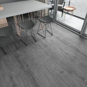 Augustus 7.71 x 72.83 x 12mm Oak Laminate Flooring in Smokey Gray