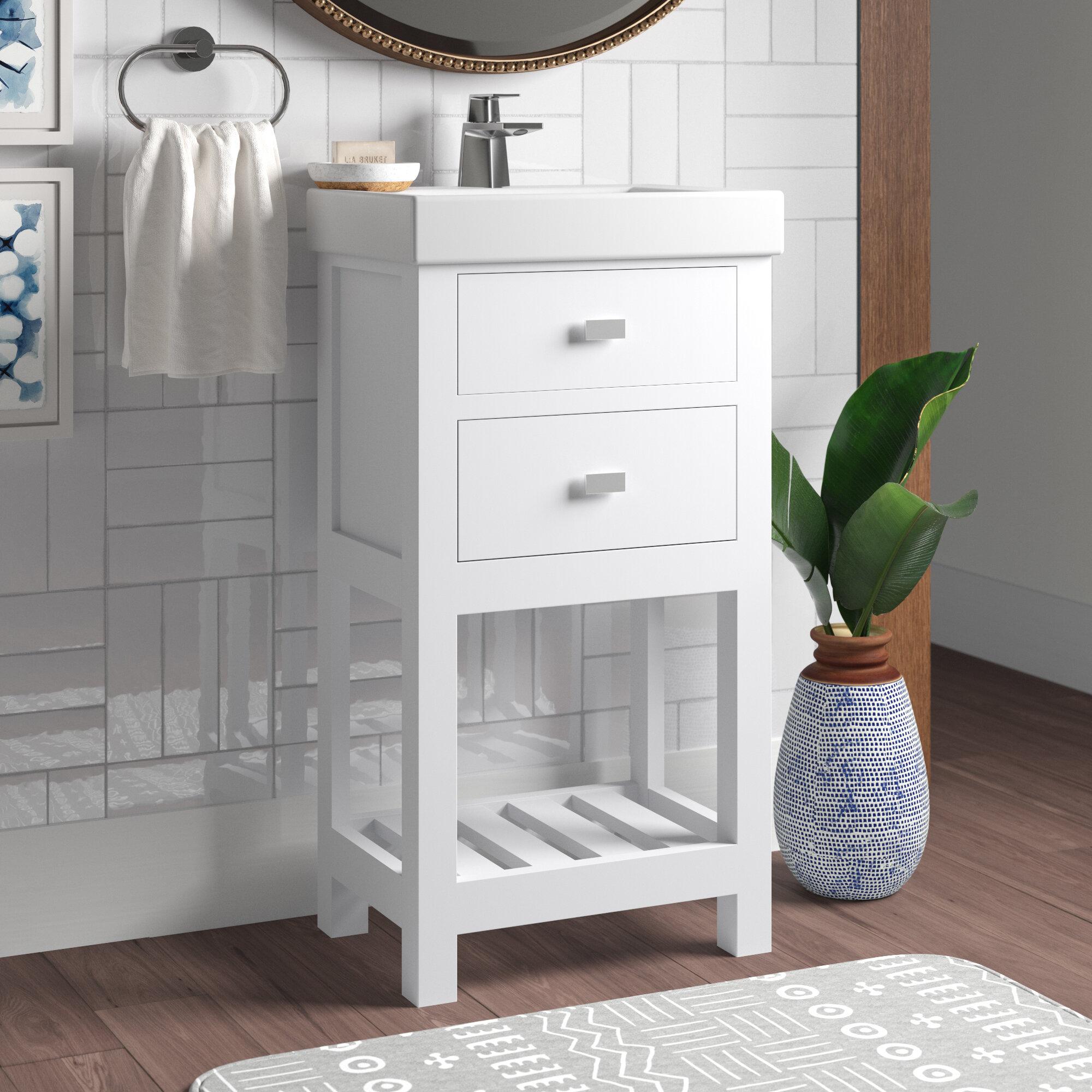Knighten 18 Single Bathroom Vanity Set Reviews Joss Main