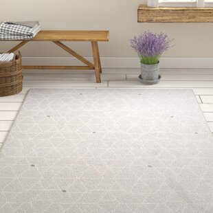 Order Clearman Modern Light Gray/White Area Rug By Gracie Oaks