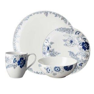 203fd2c6da1a Monsoon Fleur 16 Piece Dinnerware Set, Service for 4