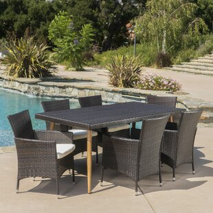 Middletown Outdoor 7 Piece Dining Set wit..