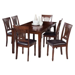DownievilleLawsonDumont 7 Piece Solid Wood Dining Set with Rectangular Table