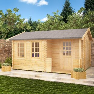 Amur 14 X 14 Ft. Tongue And Groove Log Cabin By Tiger Sheds