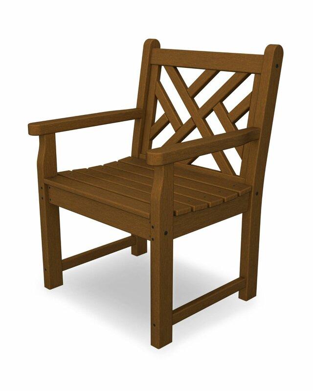 POLYWOOD® Chippendale Garden Arm Chair & Reviews | Wayfair