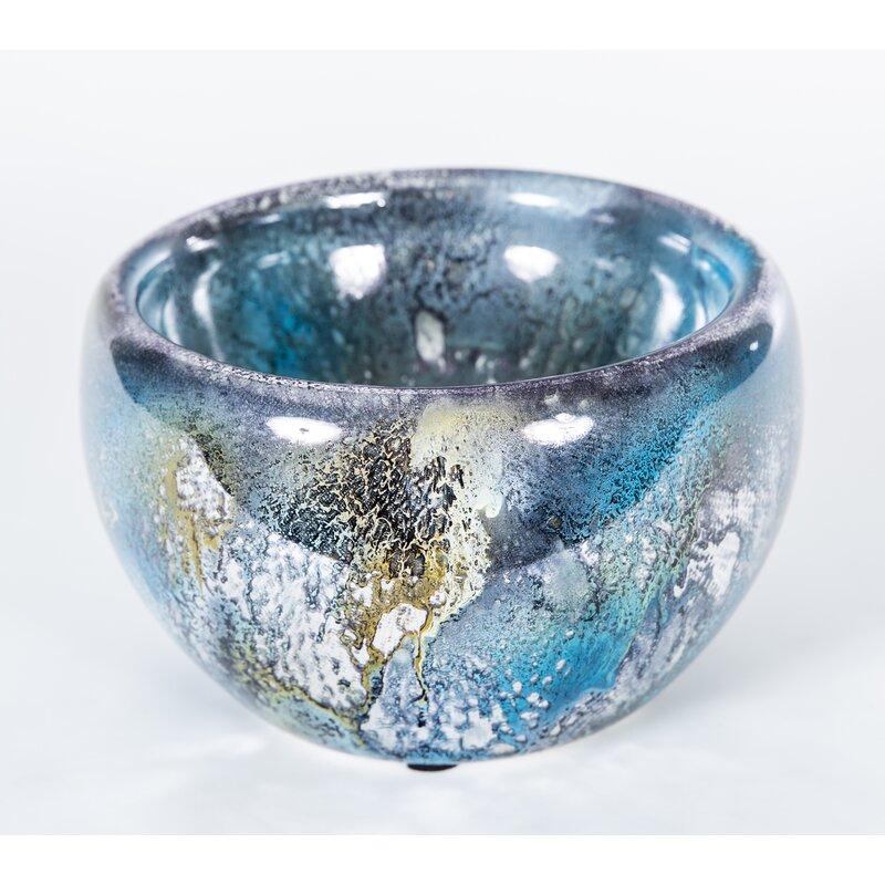 Prima Design Source Glass Contemporary Decorative Bowl In Pink White Perigold