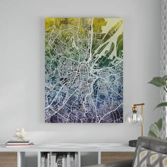 Willa Arlo Interiors 'Exploding Star Modern' Abstract Framed Oil