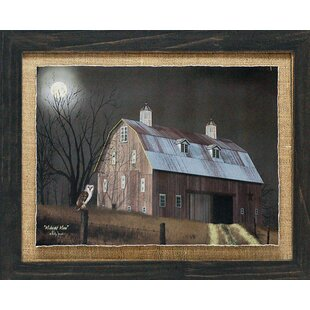 U0027Midnight Moon Primitive Country Farm Landscapeu0027 By Billy Jacobs Framed  Photographic Print