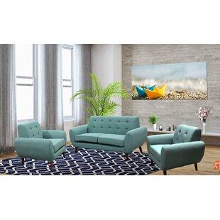 George Oliver Deandre 3 Piece Living Room Set