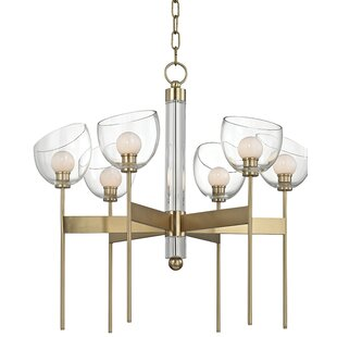 Willa Arlo Interiors Delano 6-Light LED Shaded Chandelier