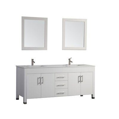 Wade Logan Charie 84 Double Sink