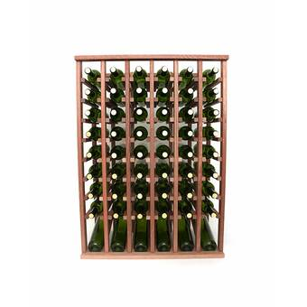 Rebrilliant Lurmont 10 Bottle Solid Wood Floor Wine Bottle Rack Reviews Wayfair