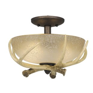 Portillo 2-Light Semi Flush Mount by Loon Peak