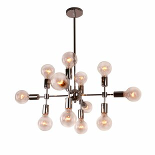 Unitary Modern Geometric 12-Light Chandelier