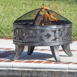 Fire Sense Firenzo Steel Wood Burning Fire Pit