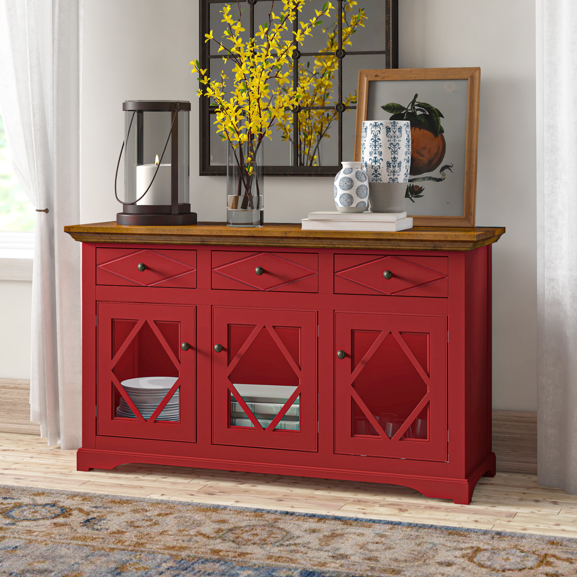 Red Sideboards Buffets Tables You Ll Love In 2020 Wayfair