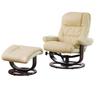 Robertsdale Manual Swivel Recliner With Footstool By Mercury Row