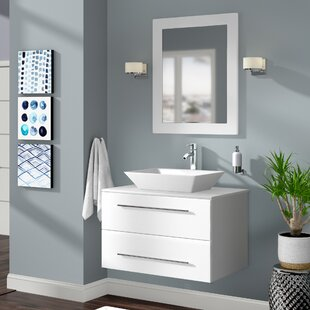 Govea 35 Single Bathroom Vanity Set with Mirror ByIvy Bronx
