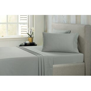 Dehart Brushed Solid 100% Cotton Sheet Set