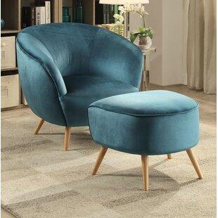 Brenna Barrel Chair and Ottoman